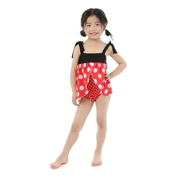 2019 latest boutique cute dot girl clothing baby clothes one piece swimsuit