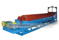 High efficiency chute type double spiral log washer