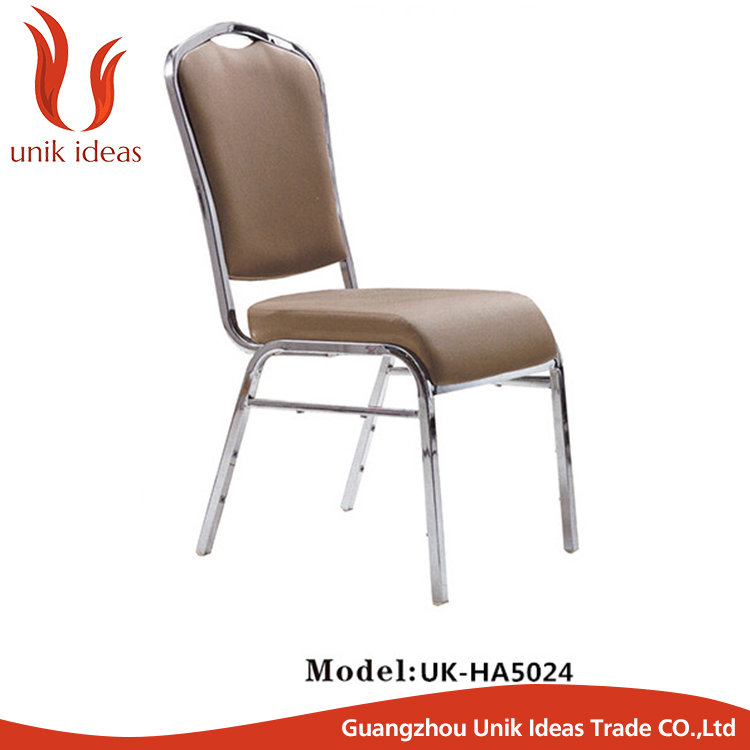 Hot Selling event Style hotel banquet chair gold Stainless Steel Wedding Chair