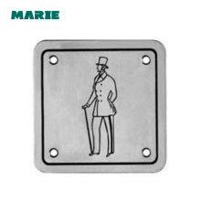 wholesale custom design metal toilet sign plate door plates