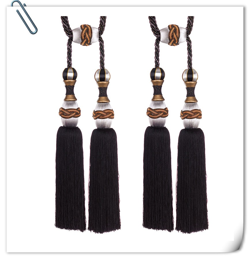 Factory Supply Wholesale handmade decorative curtain tassels