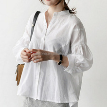 F40874A Korean style women clothing long sleeve loose fashion woman blouse