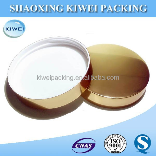 bottle screw caps gold color