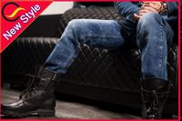 new trend black urban star crushed jeans men
