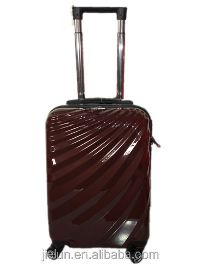 hard shell abs pc trolley luggage bag, luggage set with 4 wheels