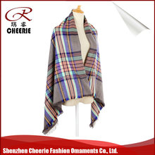 2016 New Fashion 100% high quality cashmere feeling acrylic pashmina lady scarf