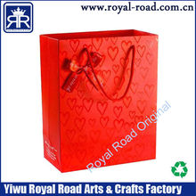 gift Industrial Use and Paper Material gift paper bag with ribbon tie