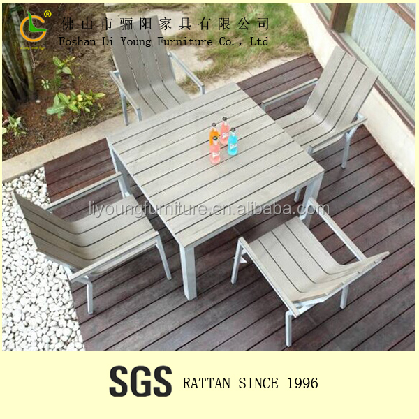waterproof high quality Hot Sell Wood Plastic Composite Outdoor Furniture outdoor tables garden grey plastic wood furniture