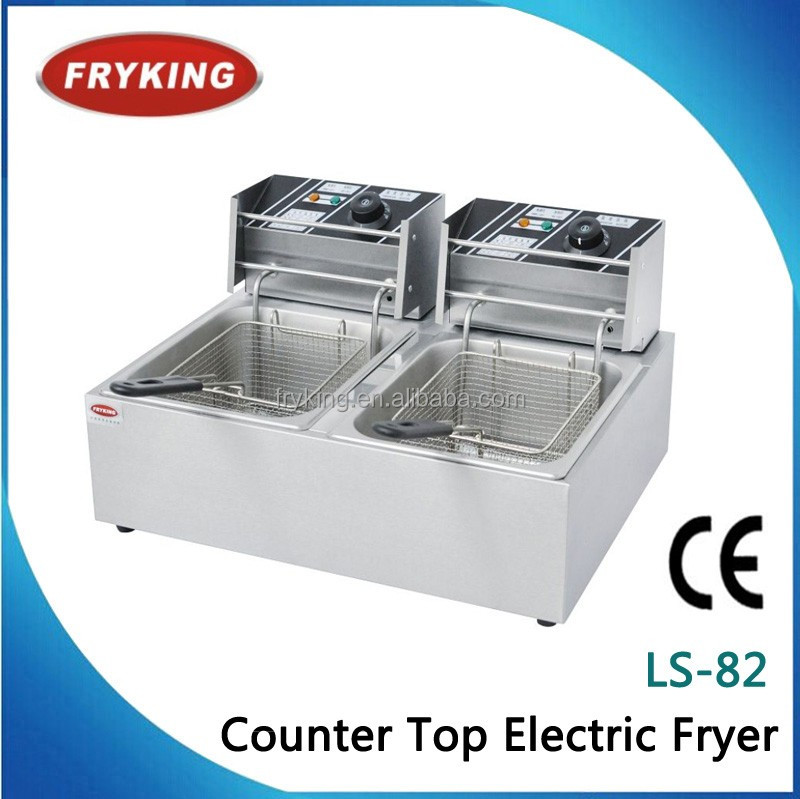 Wholesale - 110V 6(x2)L Electric Fryer for Spiral Potato/Twister Potato/Tornado Potato-Free Shipping to USA/Canada