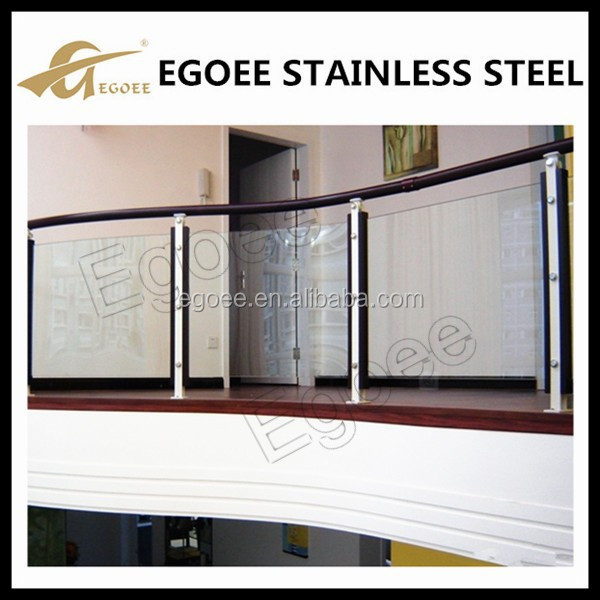 High quality stainless steel plexiglass deck railing, handrail, balustrade for terrace