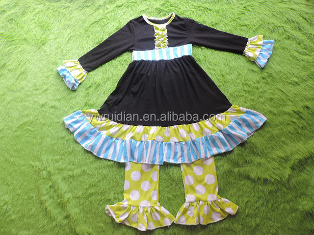 Wholesale boutique clothes baby girls children's cothes sets hot sale spring summer new boutique style baby girls remake outfits