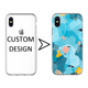 Embossed Printed Soft Tpu Uagging Mobile Phone Case for iPhone X Xs Max Xr