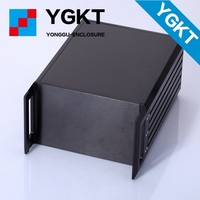 YGH-002 482*133.4*300 mm black gray aluminum enclosure chassis for electronic device
