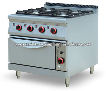 Restaurant Kitchen Equipment Industrial Gas Cooking Range with Oven Base BN900-G809