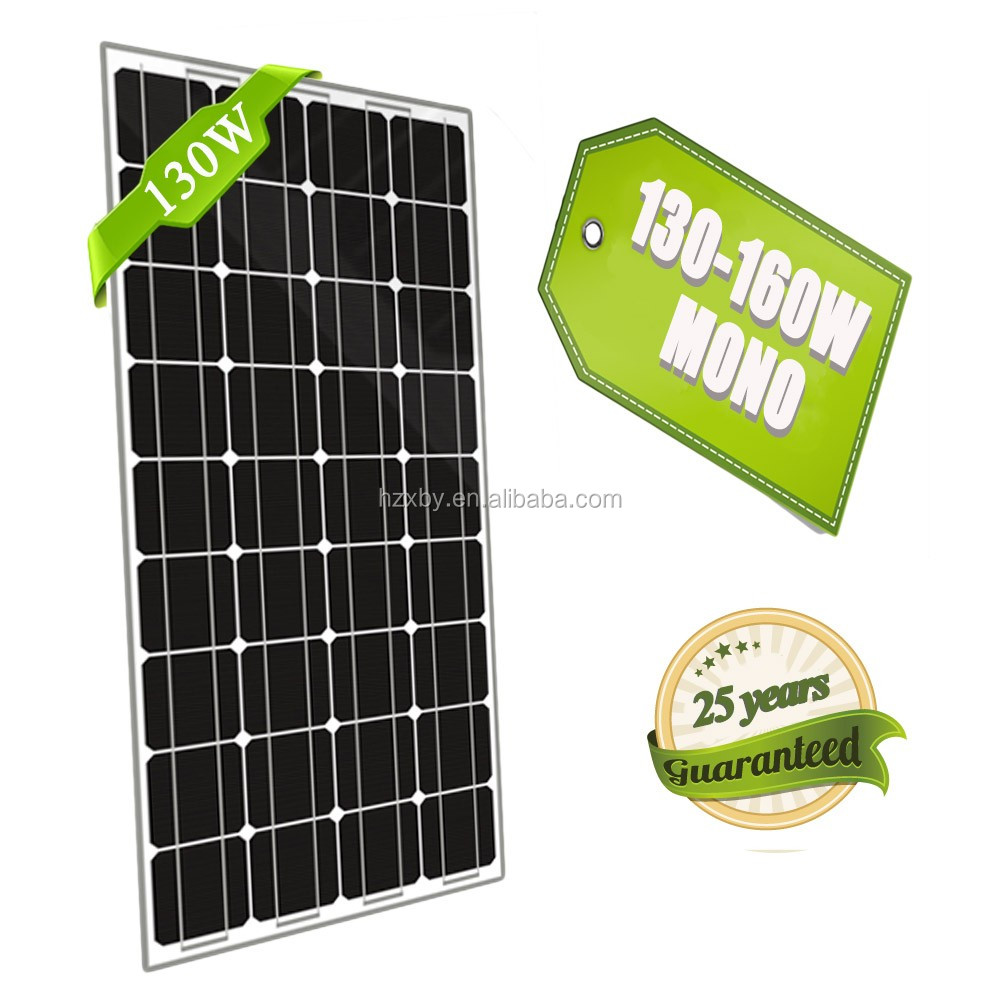 transparent 130w high quality solar panel mounting in dubai
