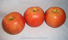 Vintage Red Yellow Apple Plastic Artificial Fake Fruit