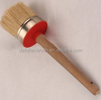 Pure Bristle Round Chalk Paint Brush Wax Brushes For Painting