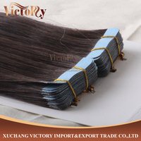 8A Grade Very Thick End L4.0 cm x W1.0 cm skin weft/Tape indian Human Hair Extension