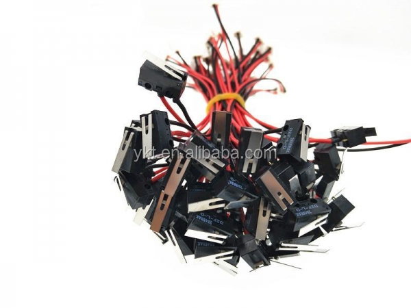 RS232 Cable micro switch with red black wires and JST XH 2P connector