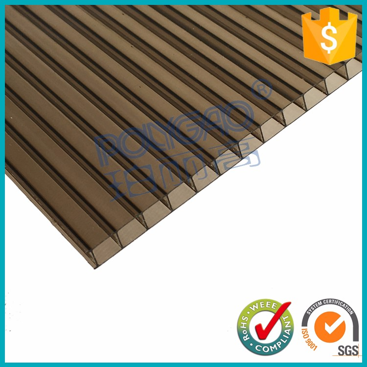 twin wall plastic roofing sheets,polycarbonate hollow sun panel,poly carbonate sheeting