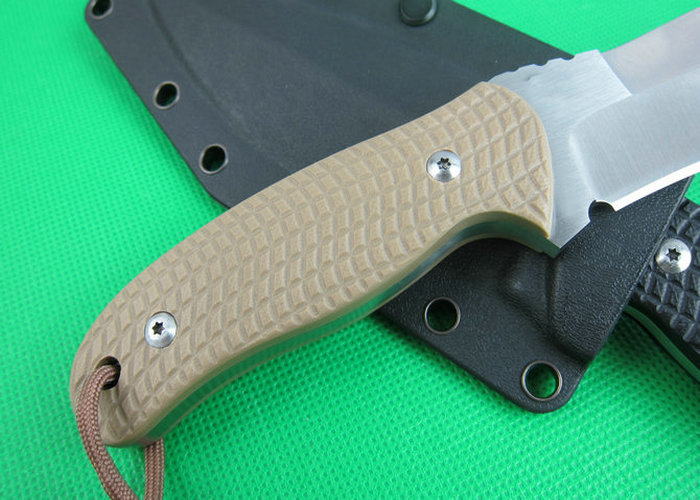 OEM tactical survival knives camping fixed blade knife rescue tool hand AUS-8 58HRC blade G10 handle 1647