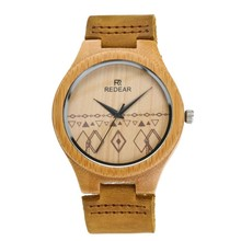 2017 new fashion wooden watch with wrist wood band in Shenzhen watch factory. Reloj de madera...
