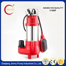 Cheap high pressure portable small non-clog sewage submersible pump with float switch for sale