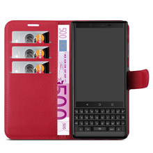 PU Leather Mobile Phone <strong>Case</strong> For <strong>BlackBerry</strong> Key 2 Wallet Back Cover