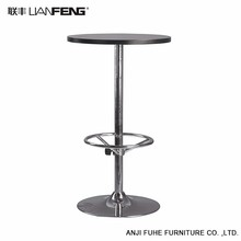 Simple and stylish design round bar table
