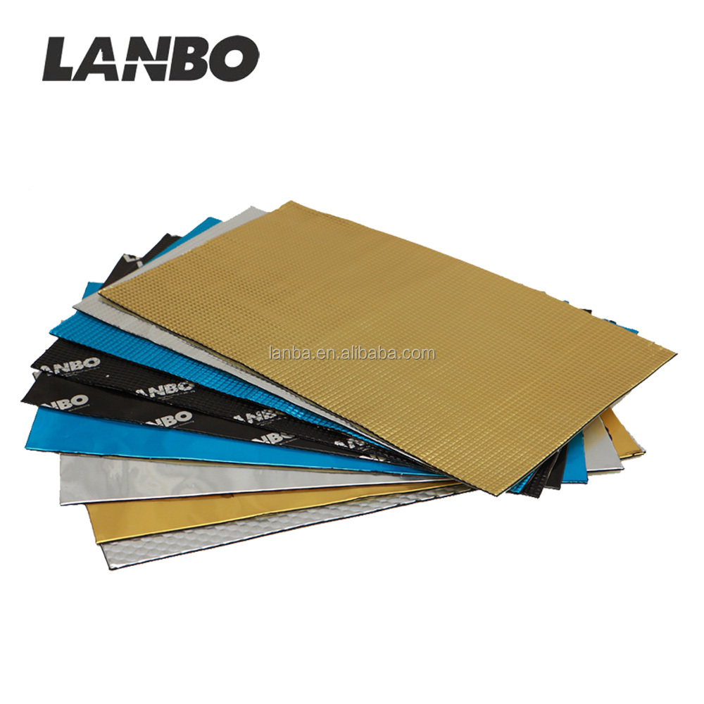 Black Aluminum&Butyl Good Sticky Automotive Sound Damping Sheet