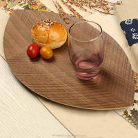 Eco-friendly Dishes Beech Wood Plate, Round Wood Dinner Serving Tray For Sale