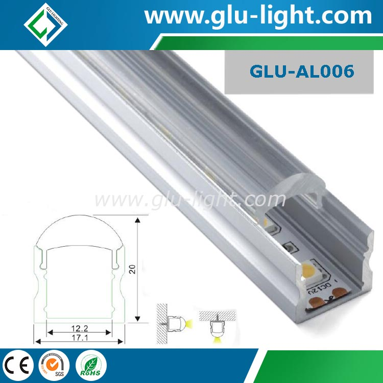 Popular 6063 anodized led <strong>aluminum</strong> profile for led strip with lens
