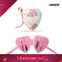 good quality 4pcs heart shape manicure set women for gift