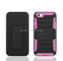 Holster phone cover for iPhone 5S smart case;mobile house for iPhone 5 belt clip case;combo cover for iPhone 5 kickstand case