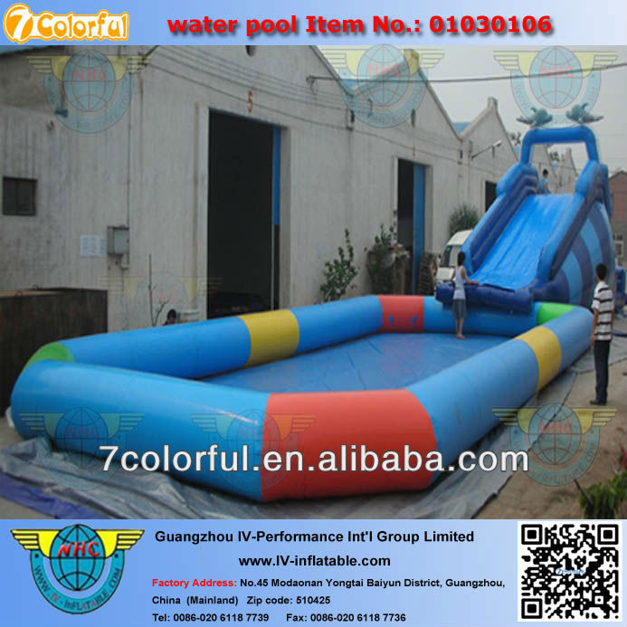 PVC tarpaulin outdoor rubber swimming pool