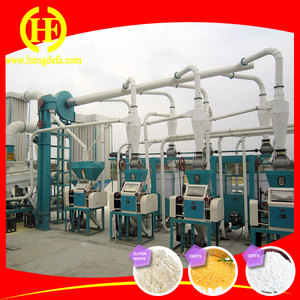 Small scale maize flour mill machine/maize meal processing line