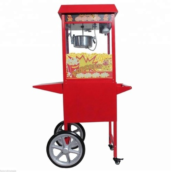 CE Approved Commercial Kettle Popcorn Maker 220V with Cart