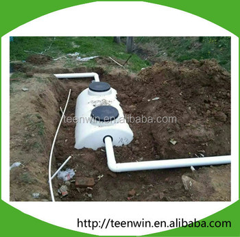 Mobile water treatment plant small septic tank system