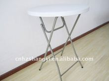 Plastic outdoor round folding high bar table