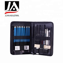 40 piece nylon bag for drawing& sketching pencil set