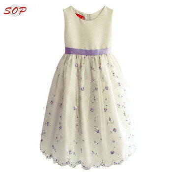 Summer holiday kids clothing girls party dresses children