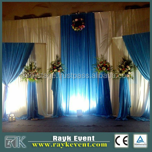 drapery hardware pipe and drape indian wedding backdrops Made in China