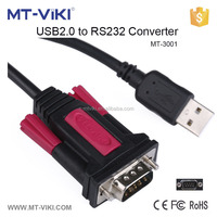 35cm USB to 9 pin serial port converter ,usb to rs232 converter cable to be used as an external connection for PC MT-3001