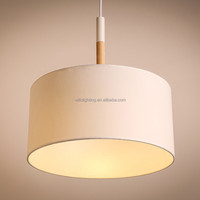 Designer concise modern style fabric pendant lamps
