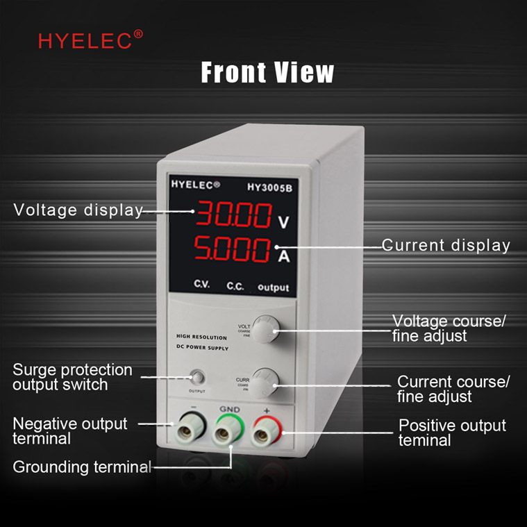 HYELEC HY3005B variable and adjustable DC POWER SUPPLY