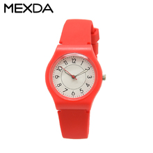 girl simple teenager new fashion design waterproof silicone band plastic case watch