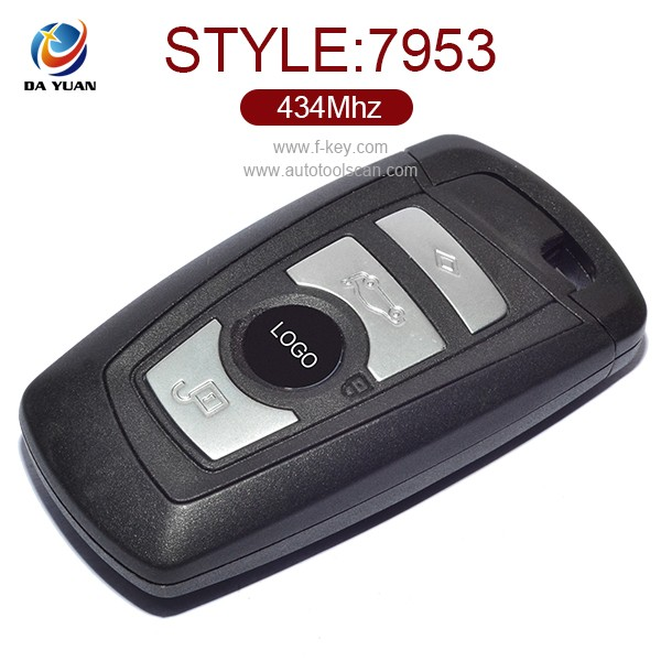 AK006046 for 4 BUTTON REMOTE SMART KEY WITH BLADE BM W 1 3 5 SERIES F10 F20 F30 F40 WITH LOGO