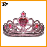 manufacturing plastic colored pink rhinestone tiaras and crowns