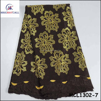 high Quality korean voile Lace Fabric Unique design french embroidery Cotton Lace for dress