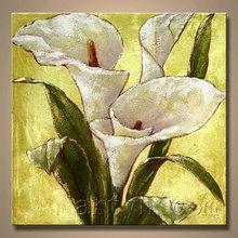 Hot Sell Handmade Calla Lily Oil Painting